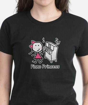 Piano - Princess Women's Dark T-Shirt