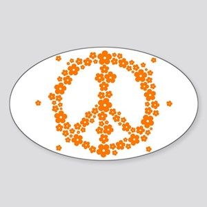 Flower Hippie Peace 60's Sign Psychedelic Sticker