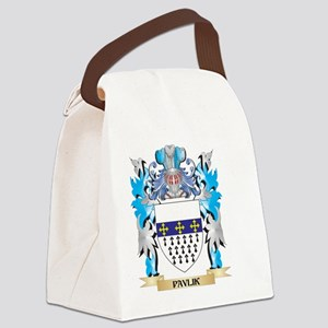 Pavlik Coat of Arms - Family Cres Canvas Lunch Bag