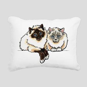 2 Birmans Rectangular Canvas Pillow