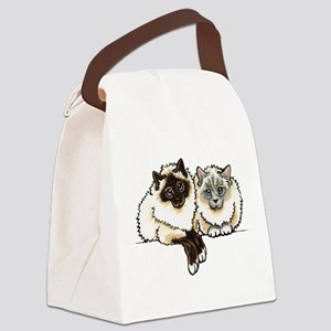2 Birmans Canvas Lunch Bag