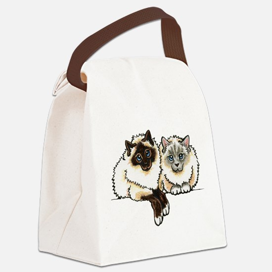 2 Birmans Canvas Lunch Bag