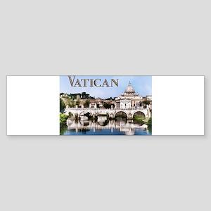 Vatican City Seen from Tiber River Bumper Sticker