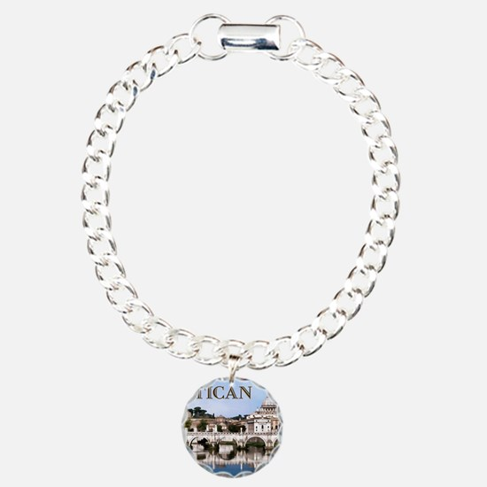 Vatican City Seen from T Charm Bracelet, One Charm
