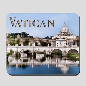 Vatican City Seen from Tiber River text Mousepad