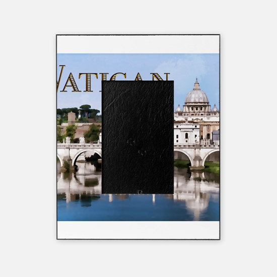 Vatican City Seen from Tiber River t Picture Frame