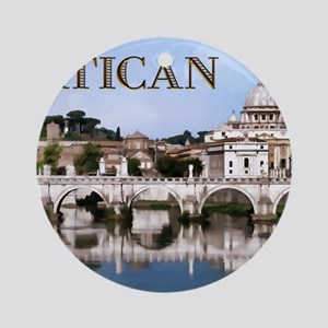 Vatican City Seen from Tiber Rive Ornament (Round)