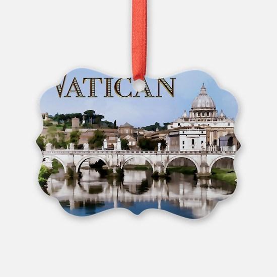 Vatican City Seen from Tiber Rive Ornament