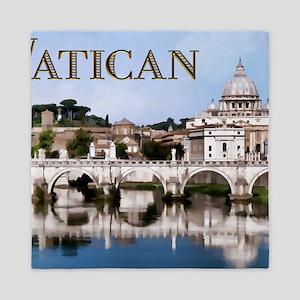 Vatican City Seen from Tiber River tex Queen Duvet