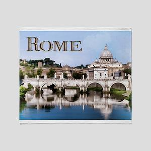 Vatican City Seen from Tiber River t Throw Blanket