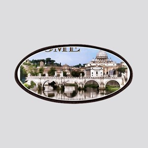 Vatican City Seen from Tiber River text RO Patches