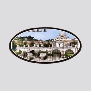 Vatican City Seen from Tiber River text IT Patches