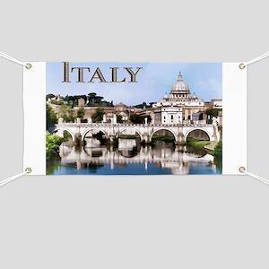 Vatican City Seen from Tiber River text ITA Banner