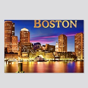 Boston Harbor at Night te Postcards (Package of 8)