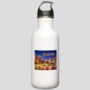 Boston Harbor at Night Stainless Water Bottle 1.0L
