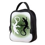 Lizard Art Neoprene Lunch Bag