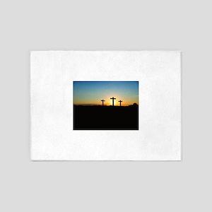 christian cross 5'x7'Area Rug