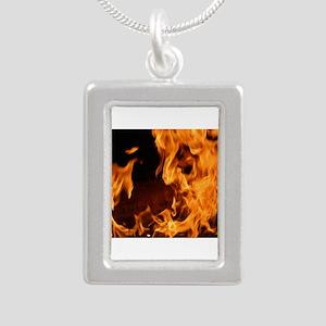 fire orange black flames Necklaces