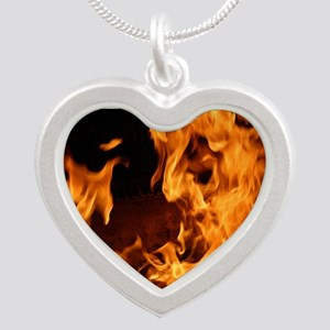 fire orange black flames Necklaces