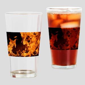 fire orange black flames Drinking Glass