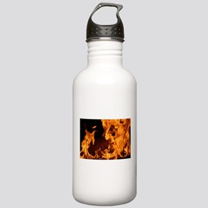 fire orange black flam Stainless Water Bottle 1.0L