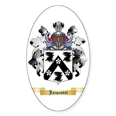 Jacquotet Sticker (Oval 10 pk)