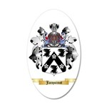 Jacquinot 35x21 Oval Wall Decal