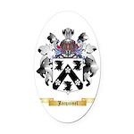 Jacquinel Oval Car Magnet