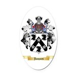 Jacques Oval Car Magnet