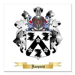 Jacques Square Car Magnet 3
