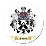 Jacques Round Car Magnet