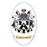 Jacquenot Sticker (Oval 50 pk)