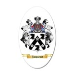 Jacquenet 20x12 Oval Wall Decal