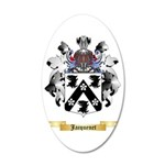 Jacquenet 35x21 Oval Wall Decal
