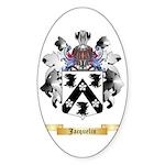 Jacquelin Sticker (Oval 10 pk)