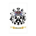 Jacquelet Sticker (Rectangle 50 pk)