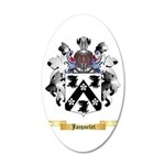 Jacquelet 20x12 Oval Wall Decal