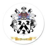 Jacquel Round Car Magnet