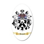 Jacquel 35x21 Oval Wall Decal