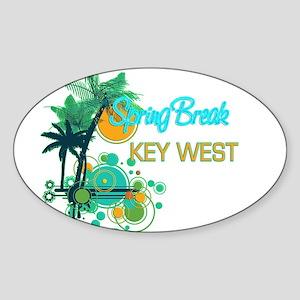 Palm Trees Circles Spring Break KEY WEST Sticker
