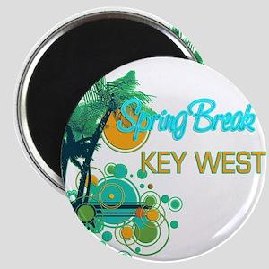 Palm Trees Circles Spring Break KEY WEST Magnets