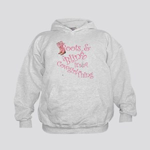 A Cowgirl thing Kids Hoodie