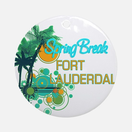 Palm Trees Circles Spring Break Ornament (Round)