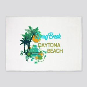 Palm Trees Circles Spring Break DA 5'x7'Area Rug