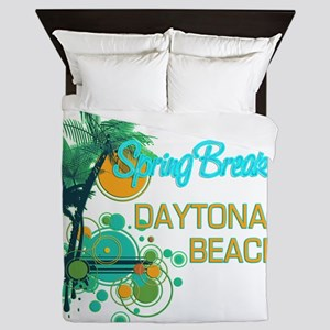 Palm Trees Circles Spring Break DAYTO Queen Duvet