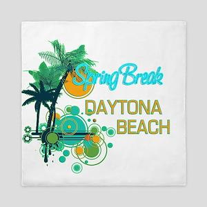 Palm Trees Circles Spring Break DAYTO Queen Duvet