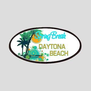 Palm Trees Circles Spring Break DAYTONA B Patches