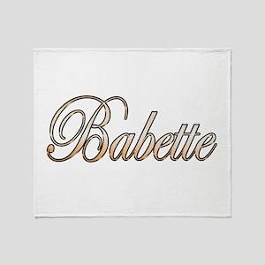 Gold Babette Throw Blanket
