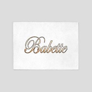 Gold Babette 5'x7'Area Rug