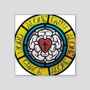"""Luther's Rose Square Sticker 3"""" x 3"""""""